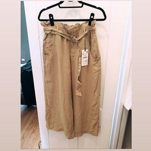 Zara Baggy Linen Pants w/ Belt